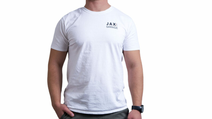 JAX Garage - White Lifestyle Tee 2 1